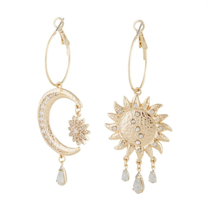 ASYMMETRICAL CELESTIAL DIAMANTE EARRING