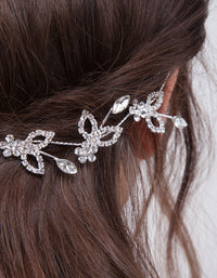 Silver Leaf Crystal Hair Vine - link has visual effect only
