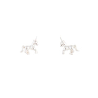 Silver Unicorn Stud Earring - link has visual effect only