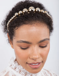 Gold Graduated Ball Headband - link has visual effect only