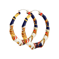Fabric Covered Bamboo Hoop | Earrings | Lovisa Jewellery Australia | Gift Idea Girl