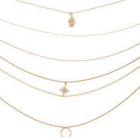 Gold Diamante Star Layered Necklace - link has visual effect only
