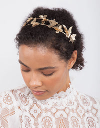 Golden Butterfly Headband - link has visual effect only