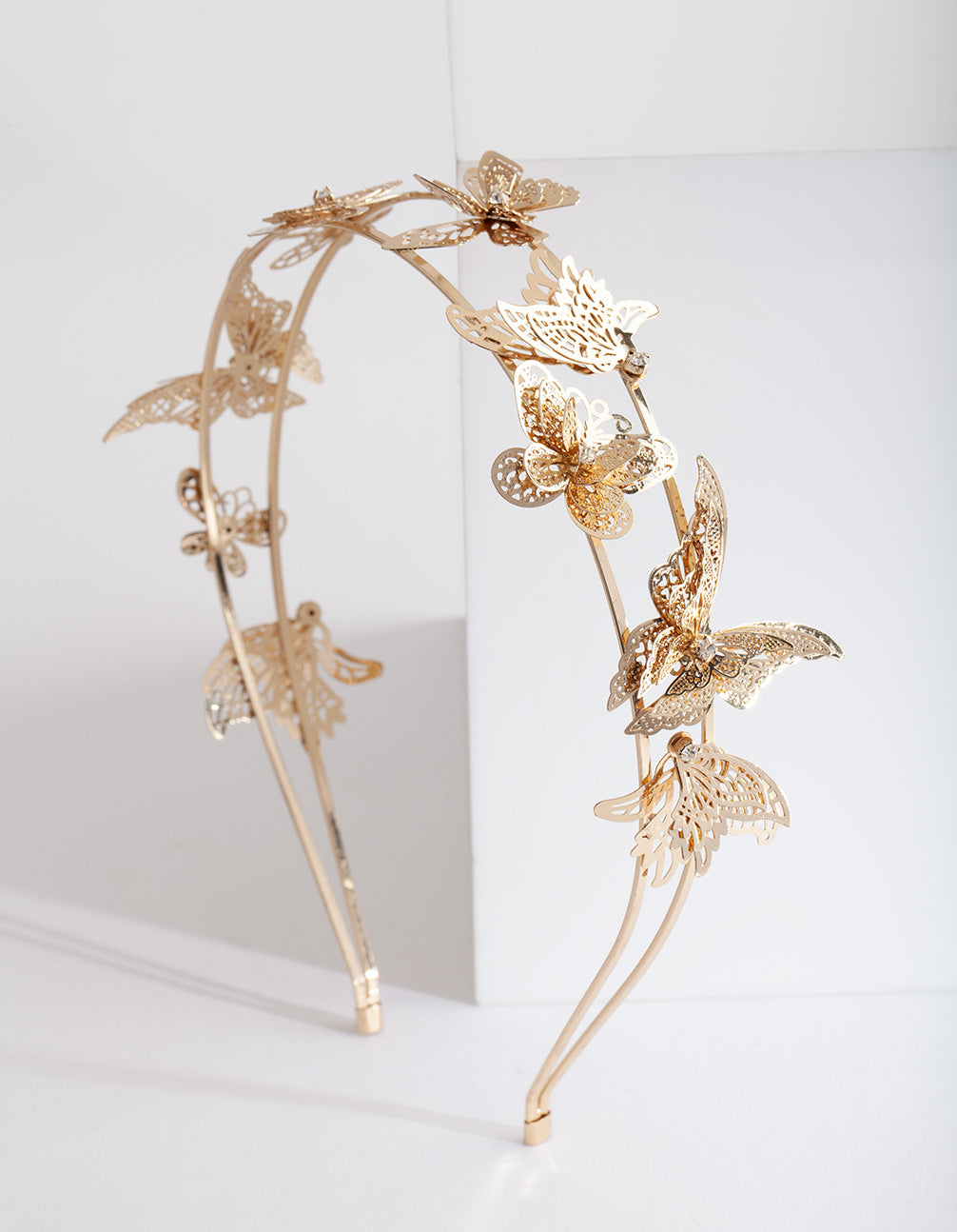 Golden Butterfly Headband