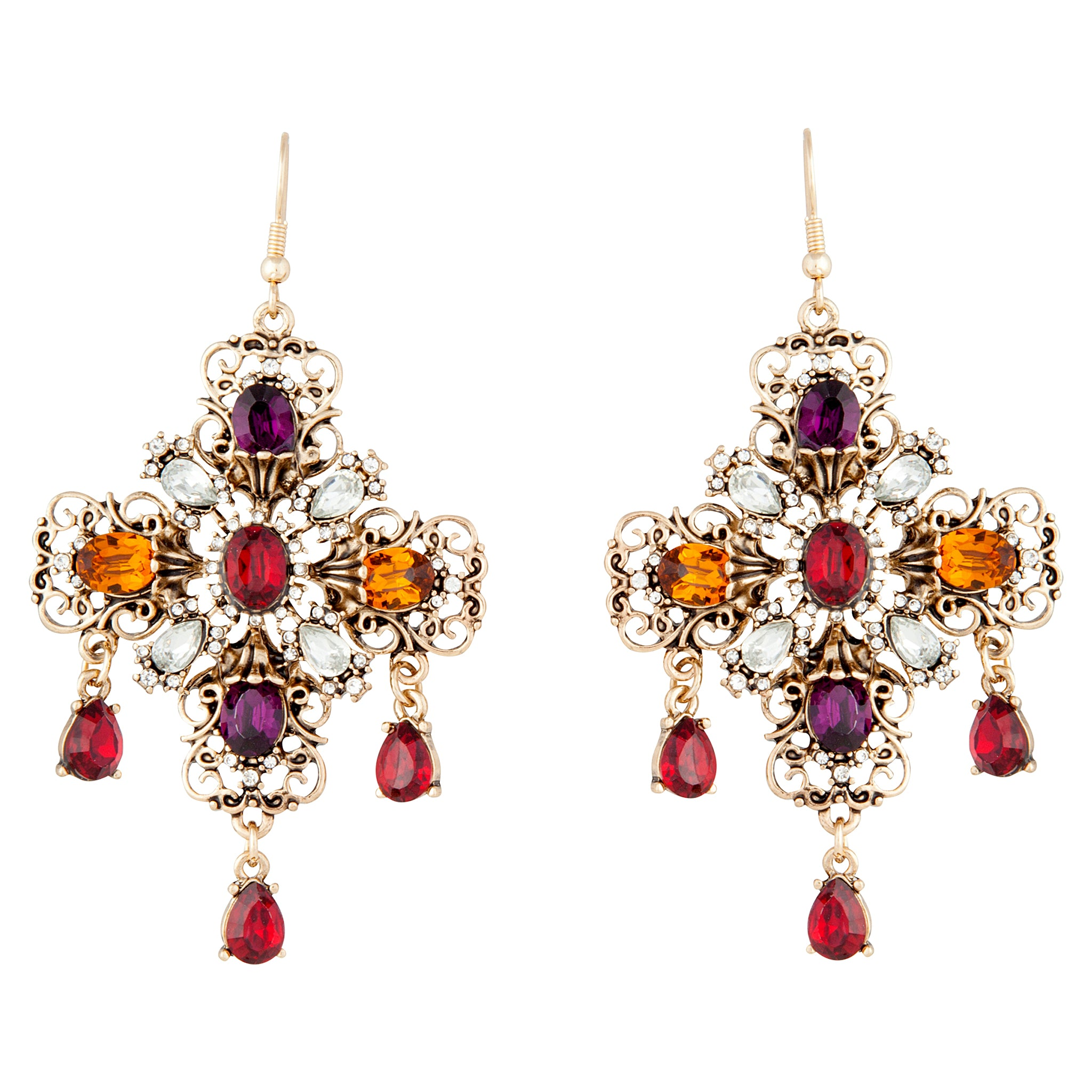 Jewelled Cross Earring