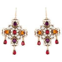 Jewelled Cross Earring - link has visual effect only