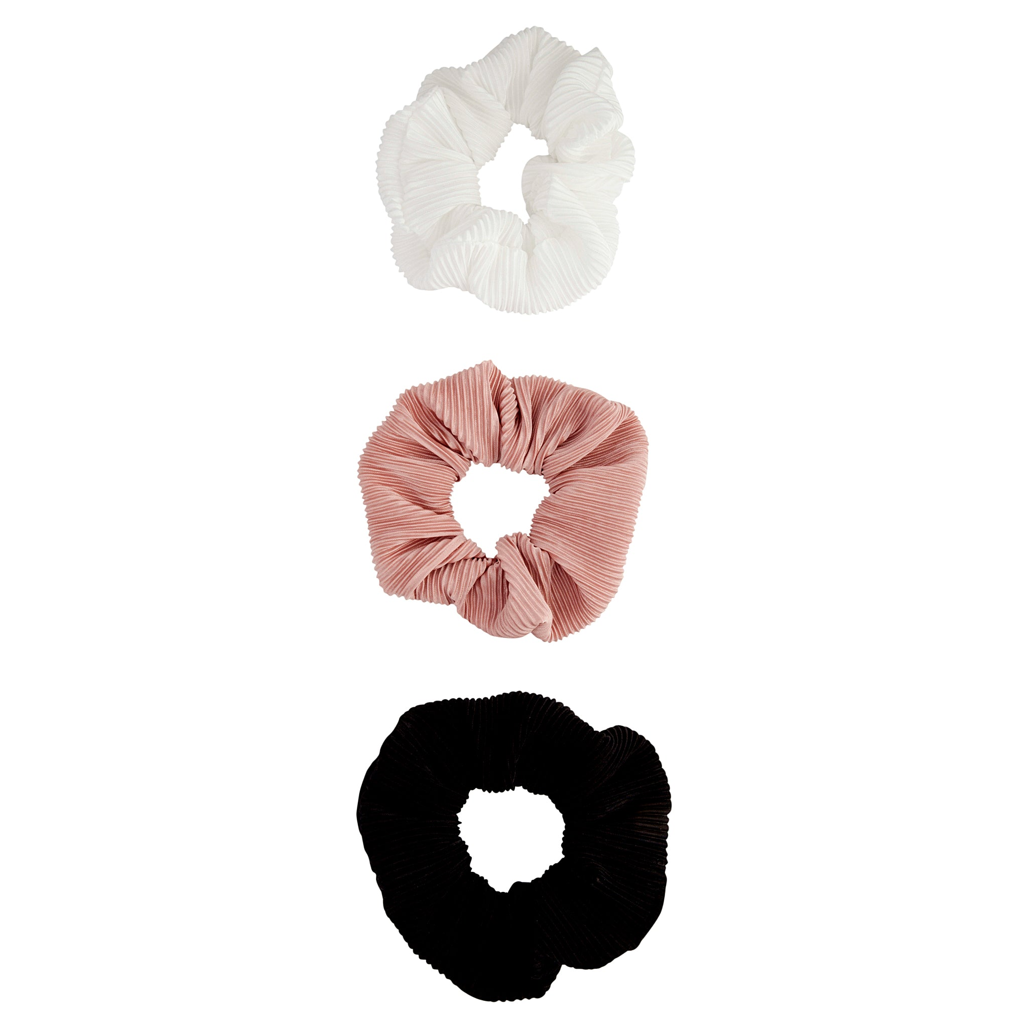 Plissí© Neutral Trio Scrunchie 3 Pack