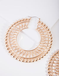 Gold Boho Cut-Out Hoop Earring - link has visual effect only