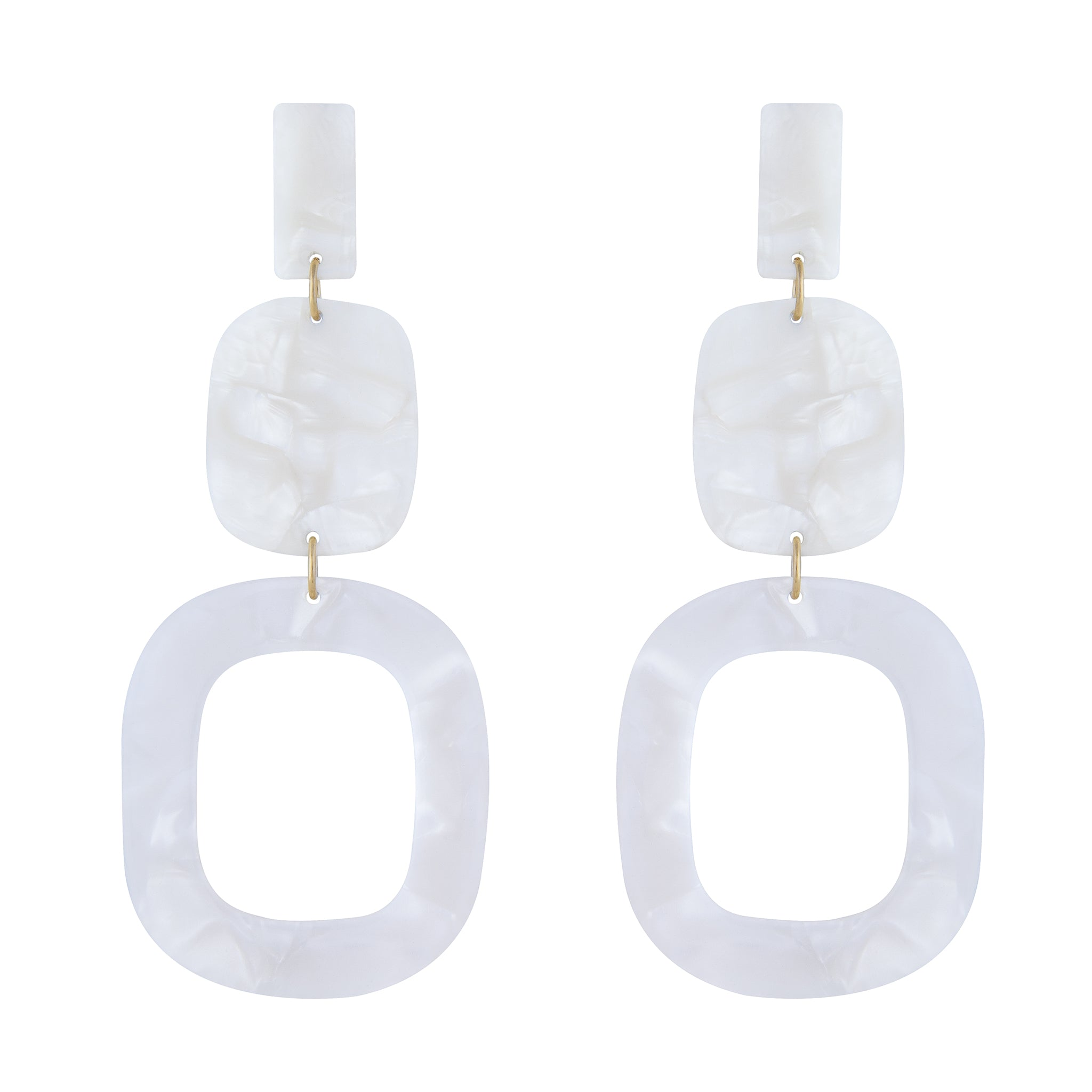 Marbled Acrylic Drop Earring