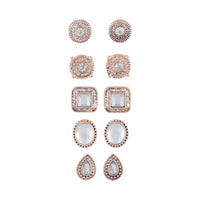 Rose Gold Art Deco Clip-On Earring 5 Pack | Earrings | Lovisa Jewellery Australia | Gift Idea Girl
