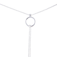Silver Open Circle Multi Choker Necklace