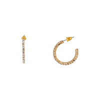 Gold Diamante Small Hoop Earring
