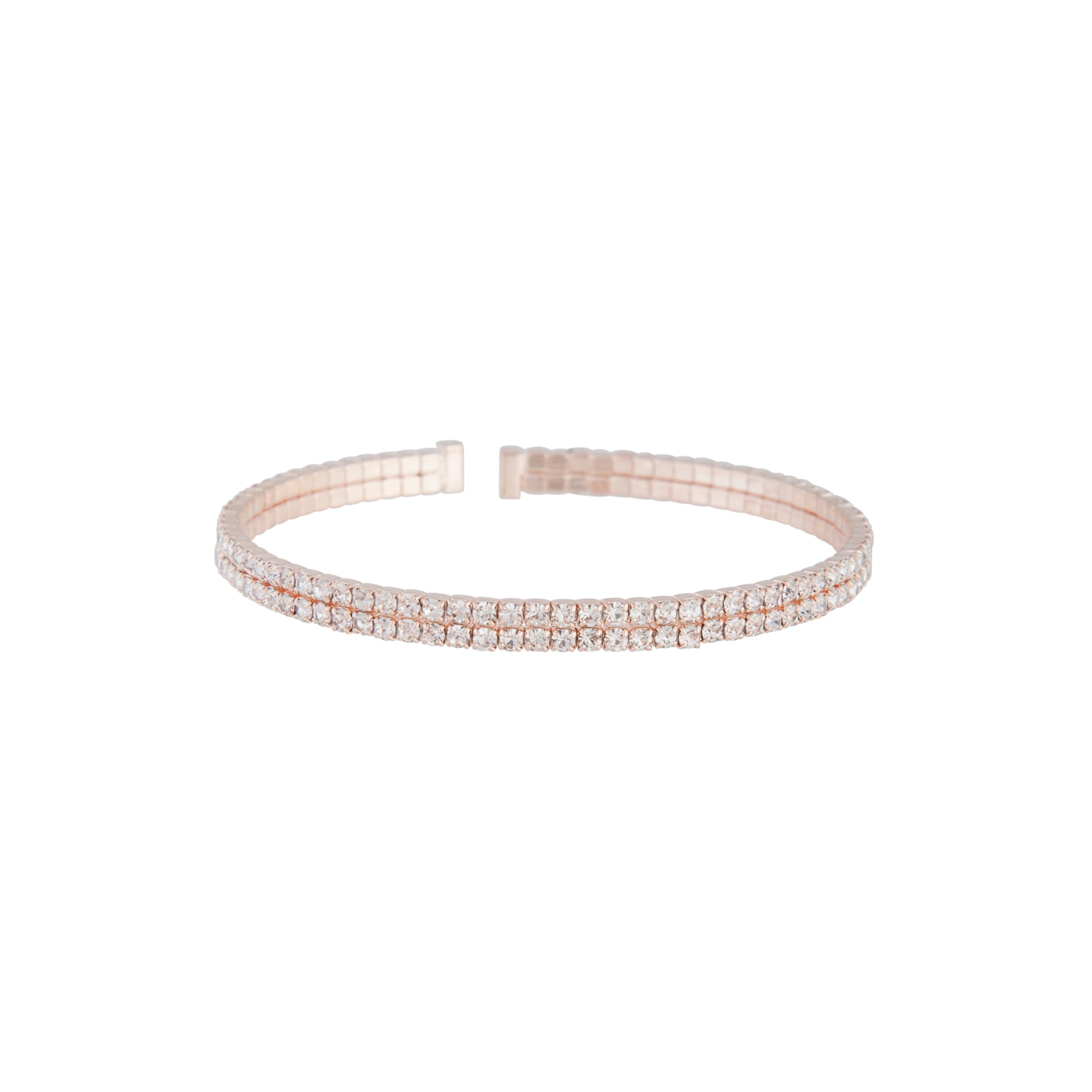 Rose Gold Double Diamante Bangle