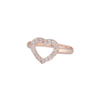 Rose Gold Cubic Zirconia Open Heart Ring - link has visual effect only