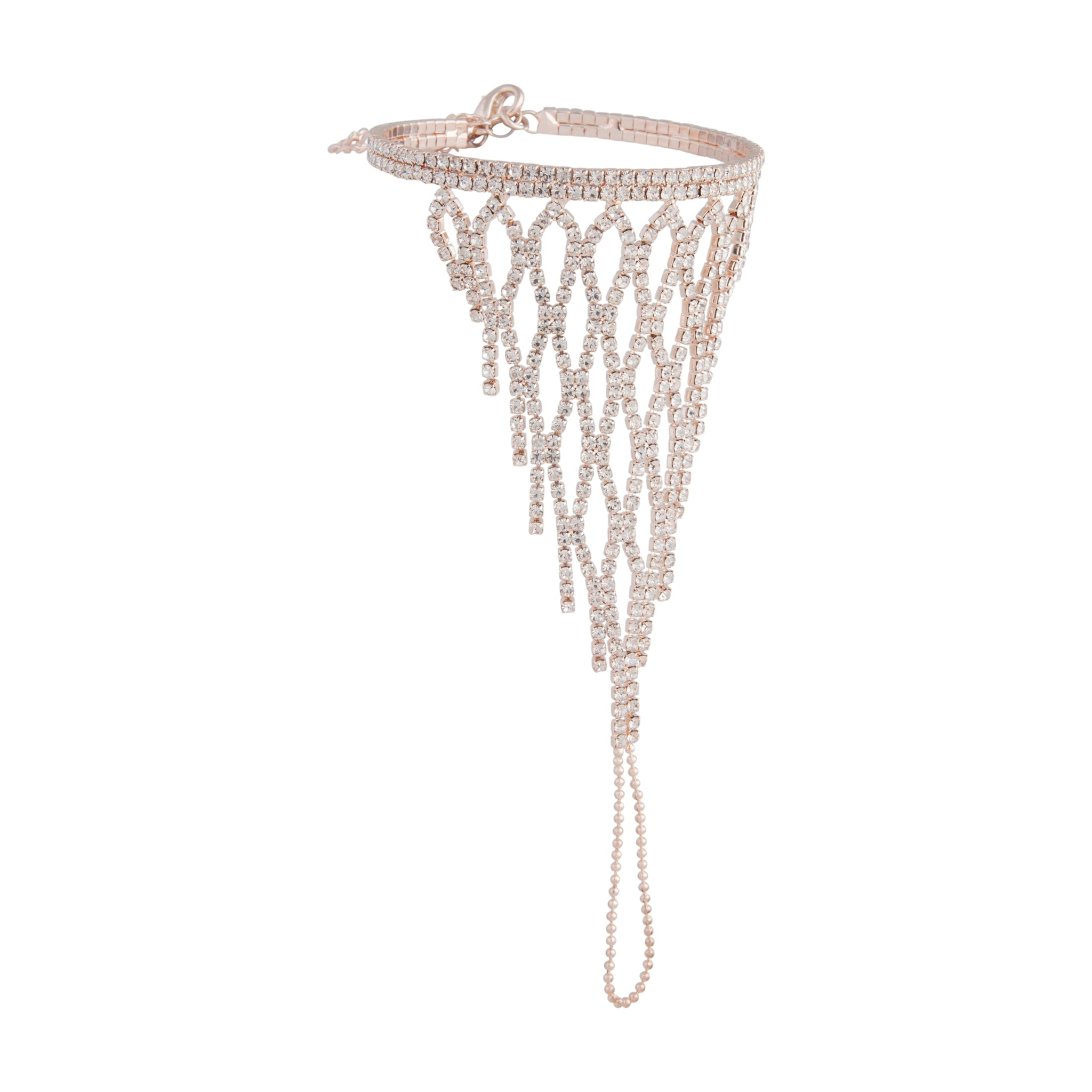 Rose Gold Lattice Cup Chain Hand Chain