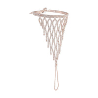 Rose Gold Lattice Cup Chain Hand Chain - link has visual effect only