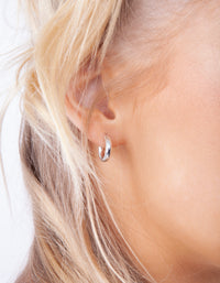 Sterling Silver Chunky Huggie Earring - link has visual effect only