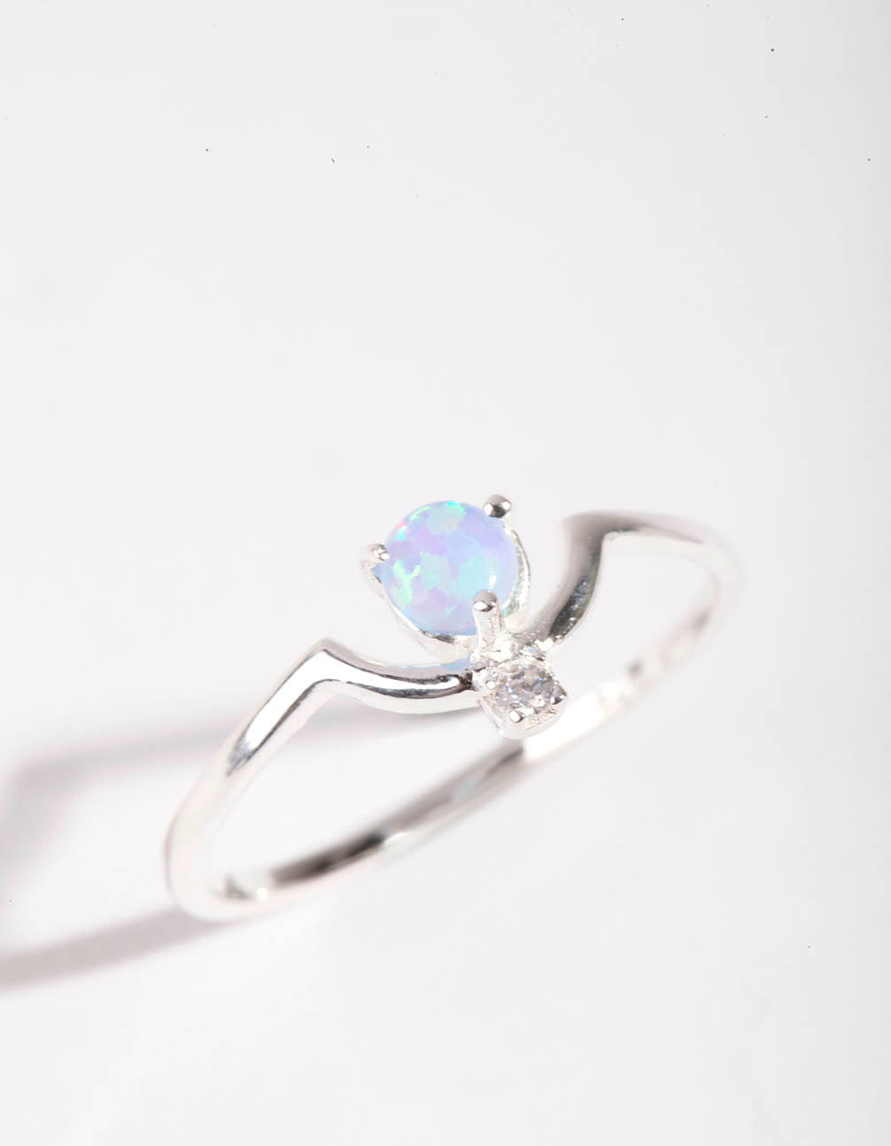 Sterling Silver Bohemian Synthetic Opal Ring