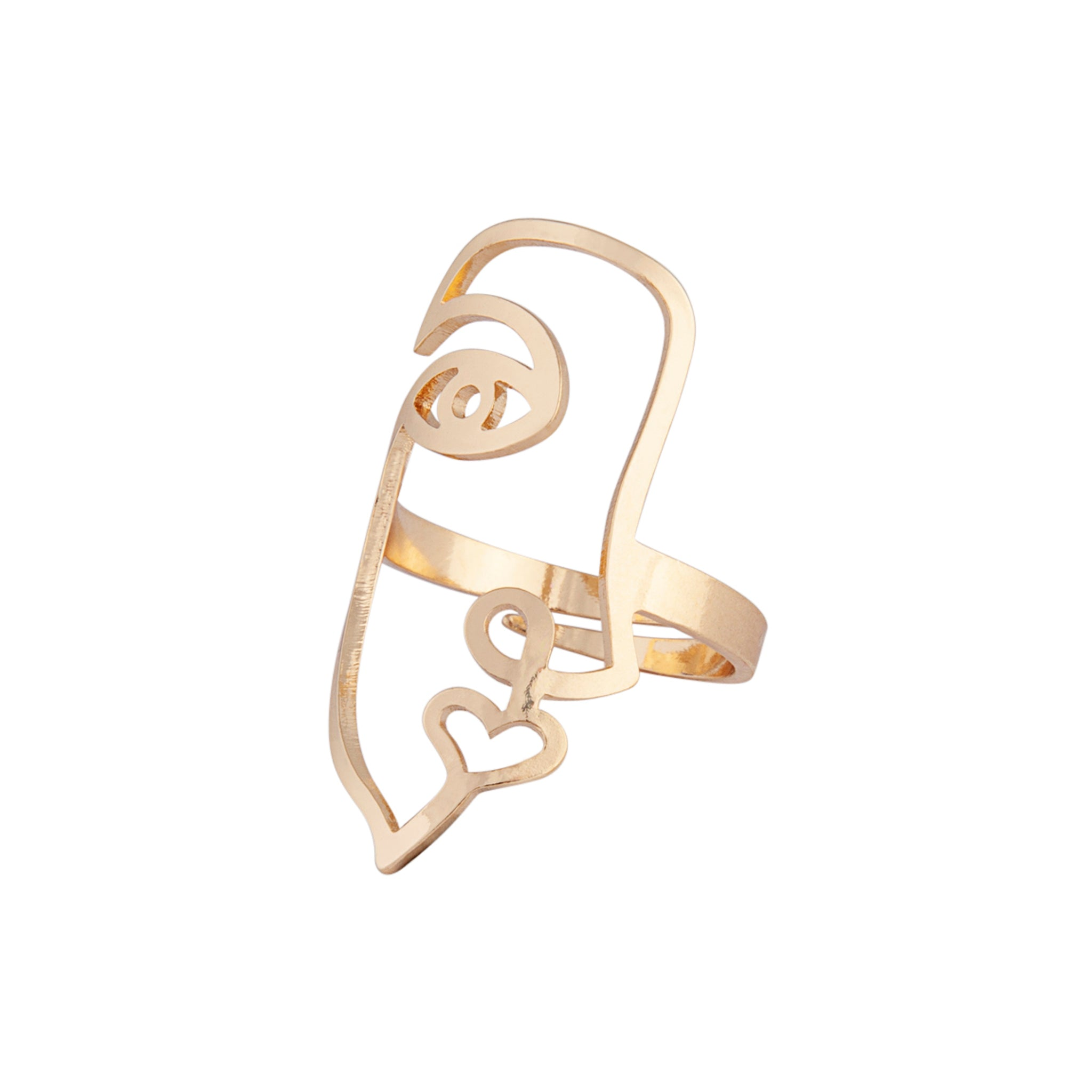 Gold Face Cut-Out Ring