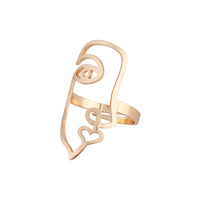 Gold Face Cut-Out Ring - link has visual effect only
