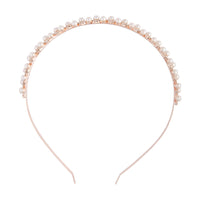 Rose Gold Pearl Diamante Headband | Hair | Lovisa Bridal Jewellery Australia | Wedding Accessories