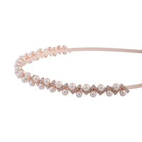 Rose Gold Pearl Diamante Headband - link has visual effect only