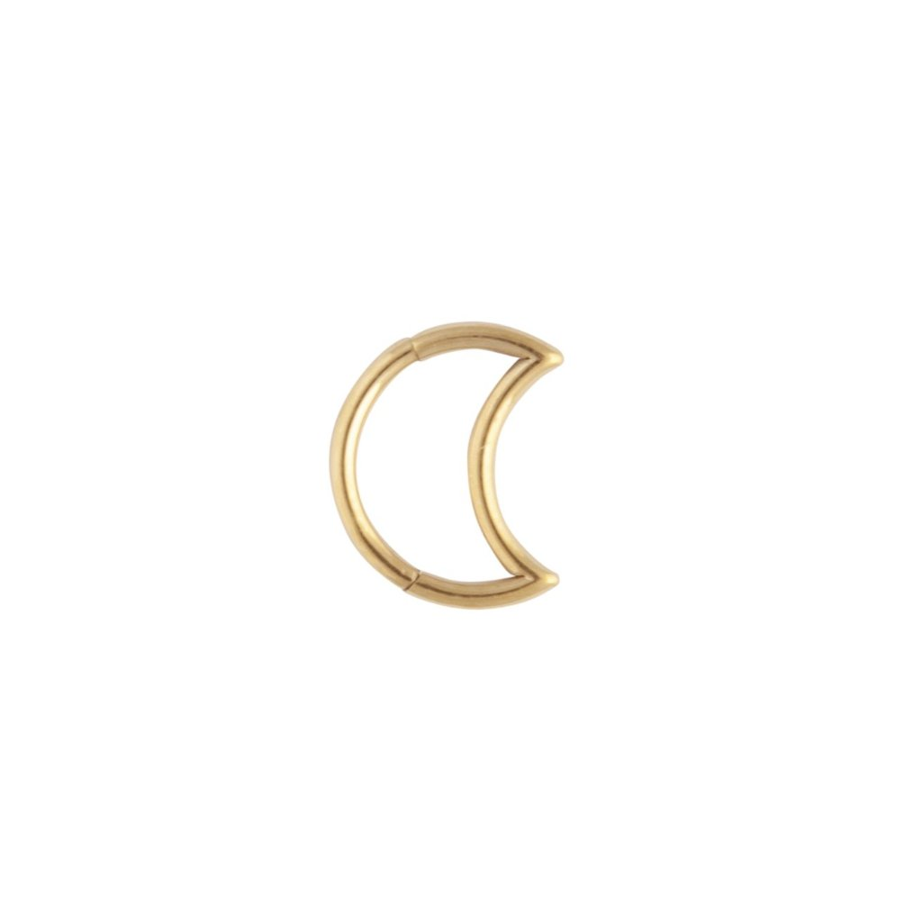 Gold Celestial Moon Cartilage Earring