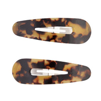 Acrylic Large Tortoiseshell Snap Clip Duo - link has visual effect only