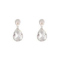 Faceted Silver Teardrop Earring - link has visual effect only