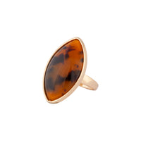 Gold Tortoiseshell Oval Ring