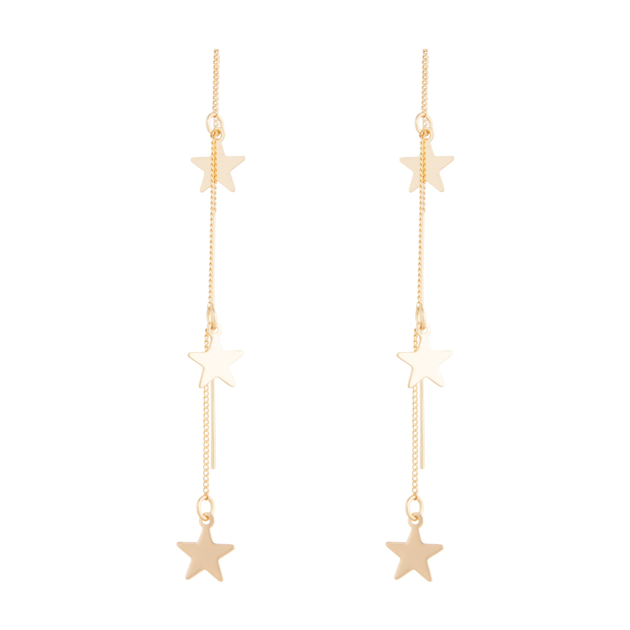 Fine Star Chain Thread Through Earring