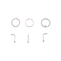 Rhodium Twisted Nose 6 Pack - link has visual effect only