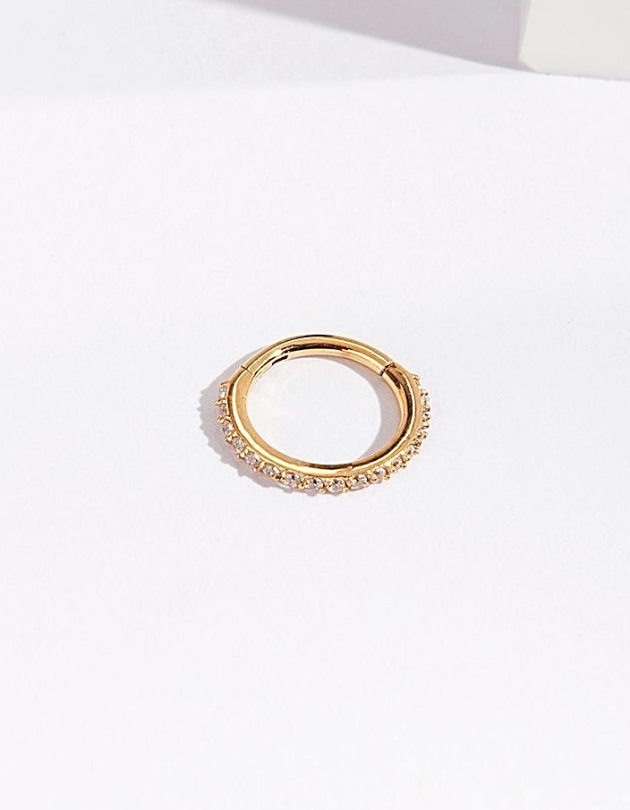 Gold Hinged Ring Body Jewellery