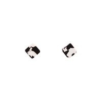 Black White Resin Square Earring - link has visual effect only