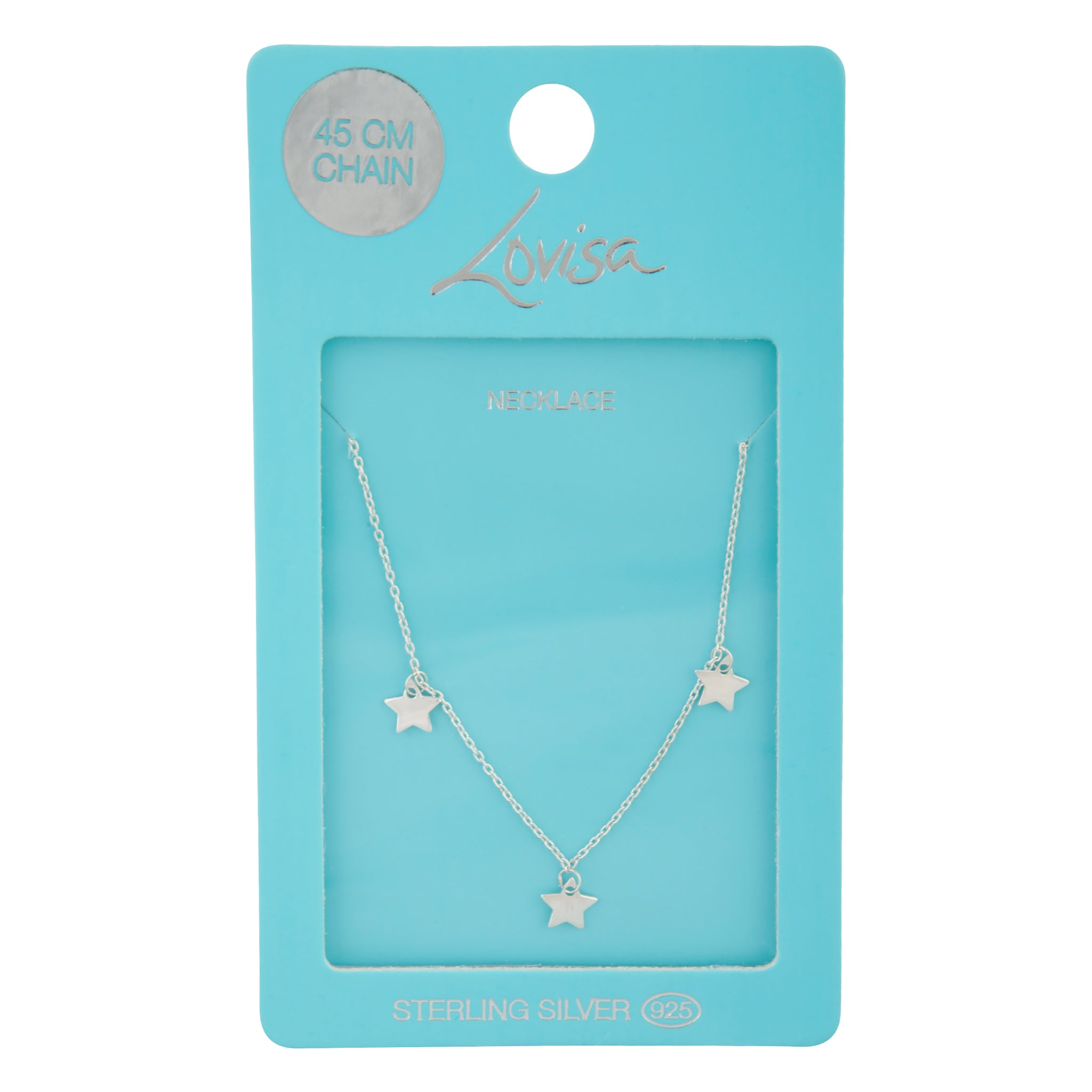 Sterling Silver Micro Star Necklace