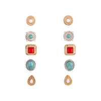 Mixed Metal Bohemian Stone Clip-On Earring Pack | Earrings | Lovisa Jewellery Australia | Gift Idea Girl