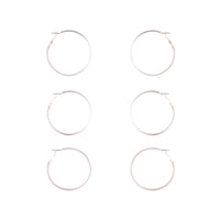 Silver Gold Gunmetal Glitter Hoop Earring Pack | Earrings | Lovisa Jewellery Australia | Gift Idea Girl
