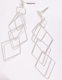 Silver Fine Diamond Cut Earrings - link has visual effect only