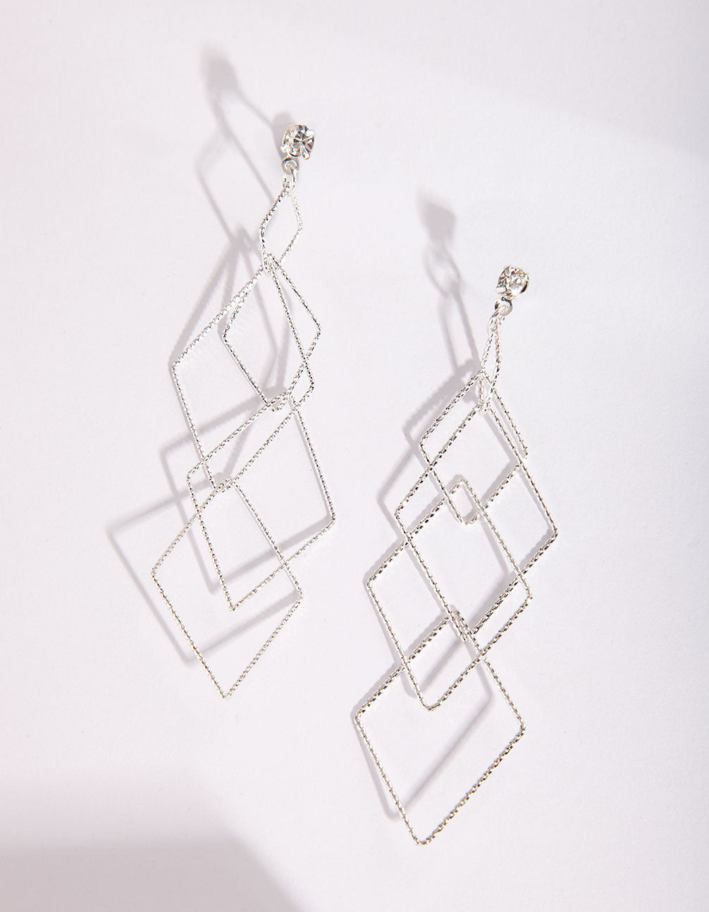Silver Fine Diamond Cut Earrings