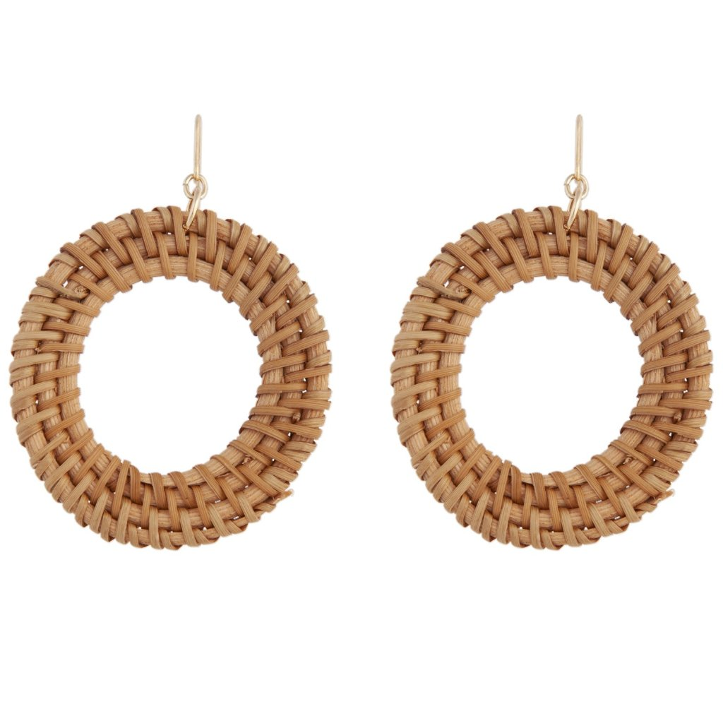 Raffia Circle Drop Earring