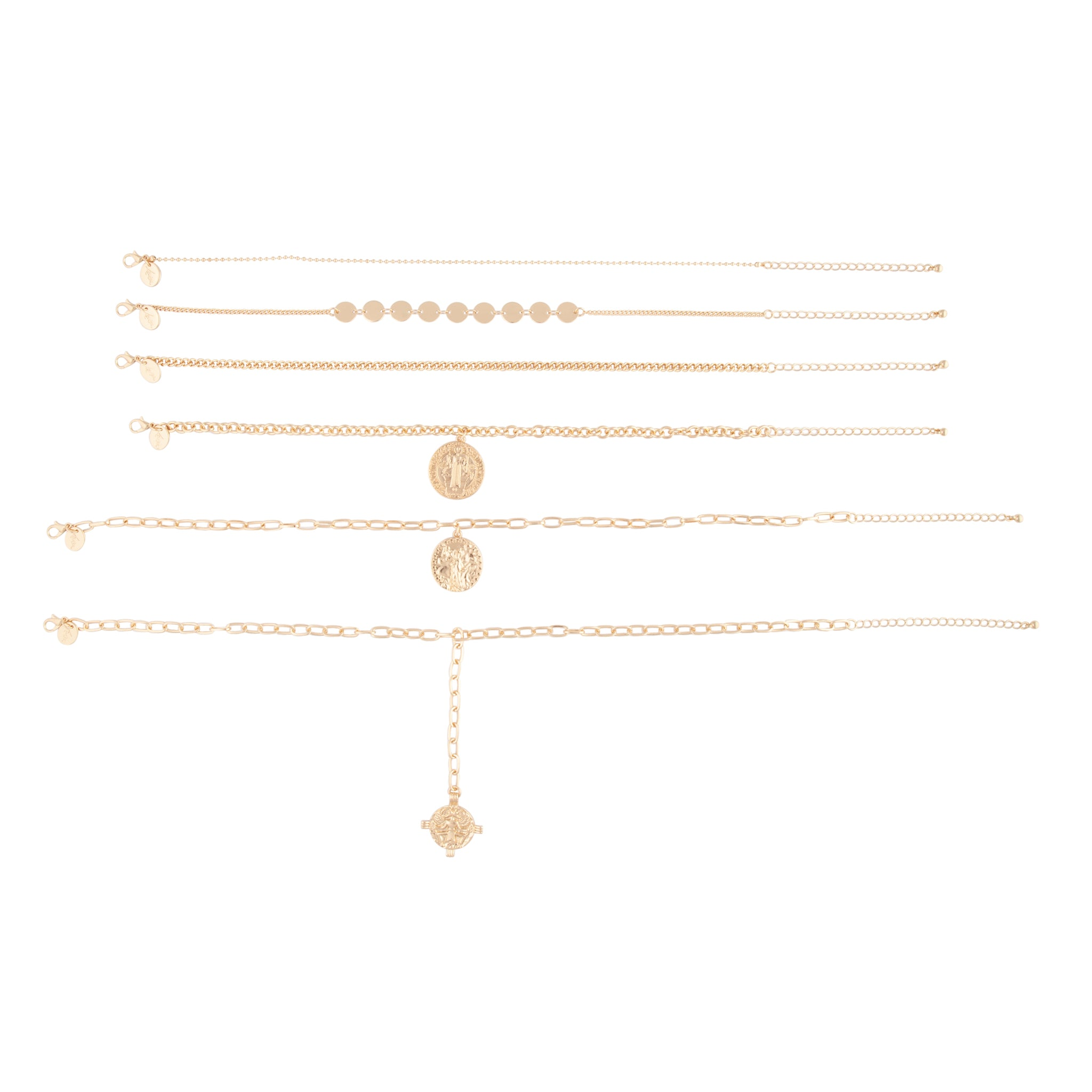 Gold Coin Chunky Choker Pack