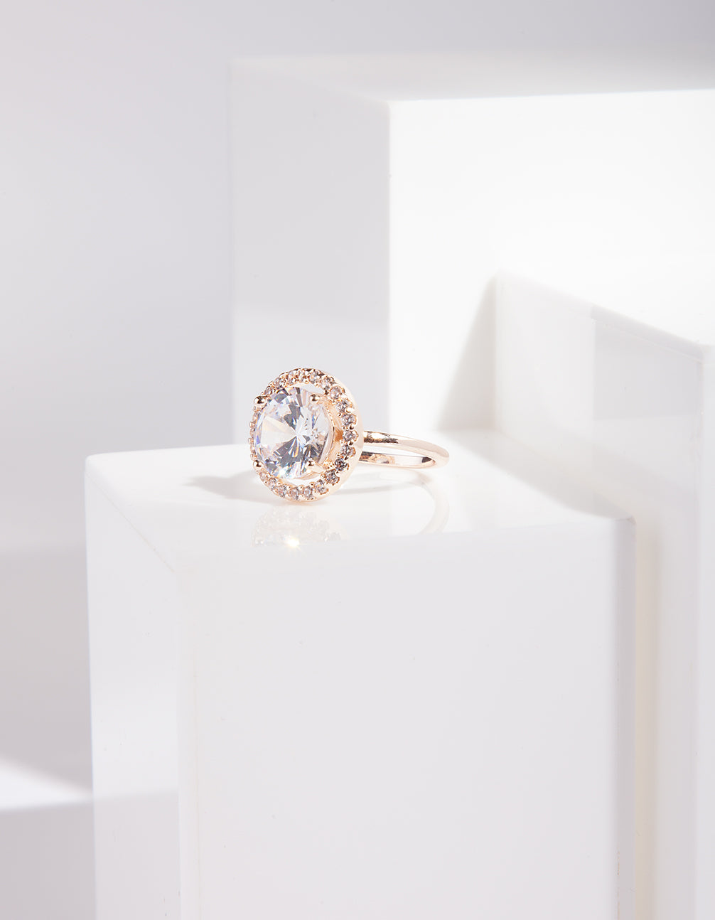 Rose Gold Round Cubic Zirconia Ring