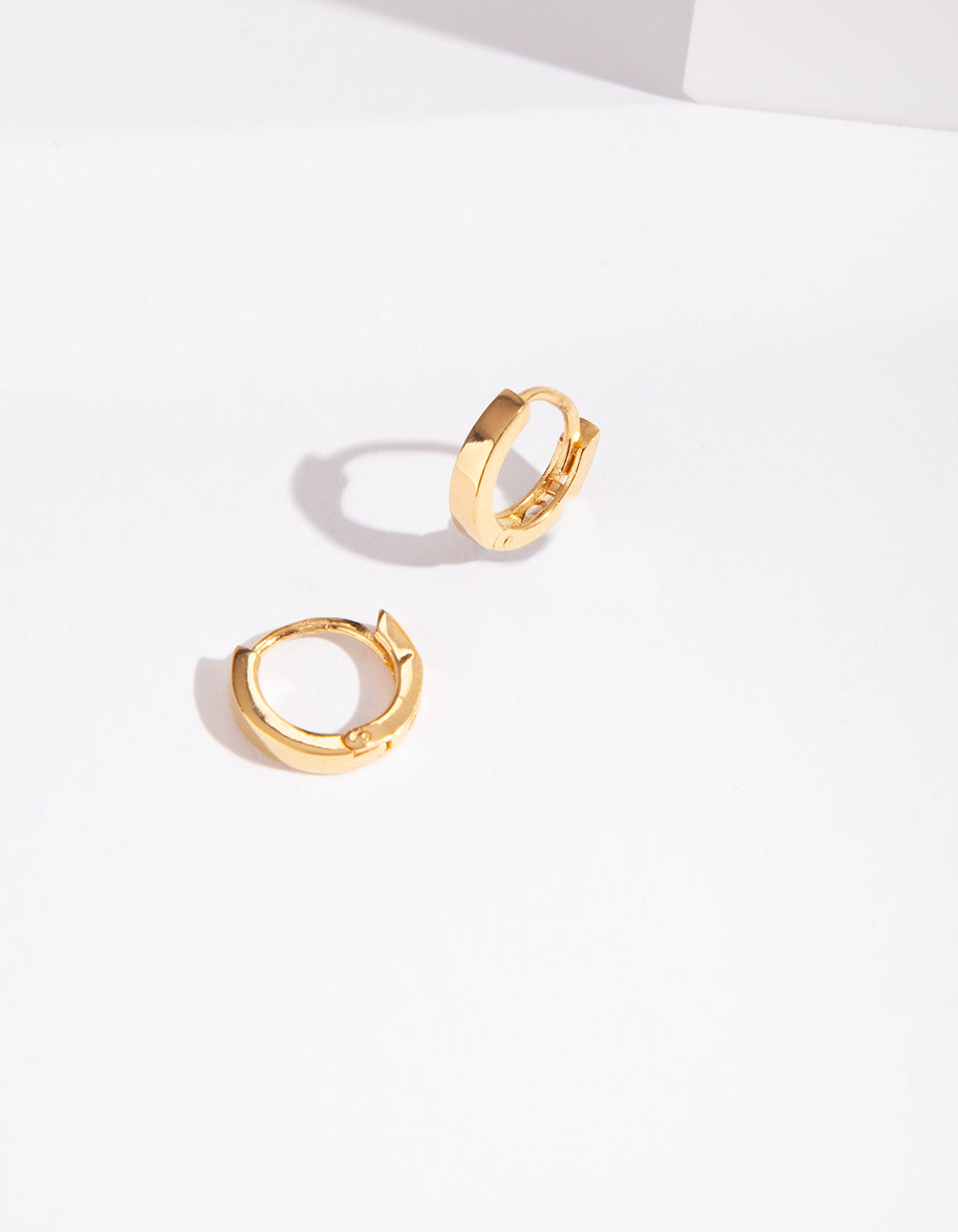 Gold Plated Sterling Silver Huggie Hoop Earring