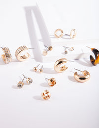 Gold Acrylic Hoop Earring 9 Pack - link has visual effect only
