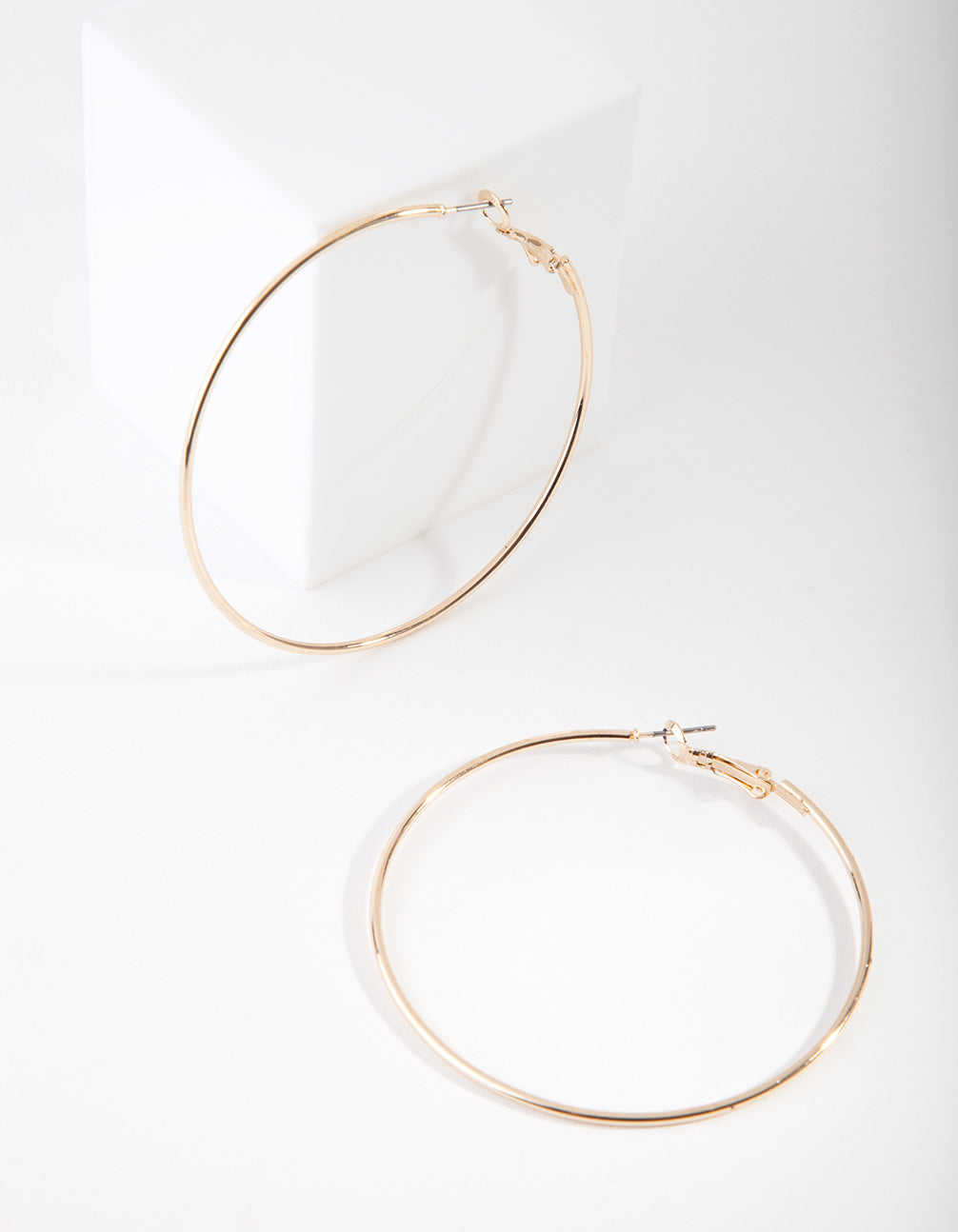 Gold Oversized Fine Hoop Earrings