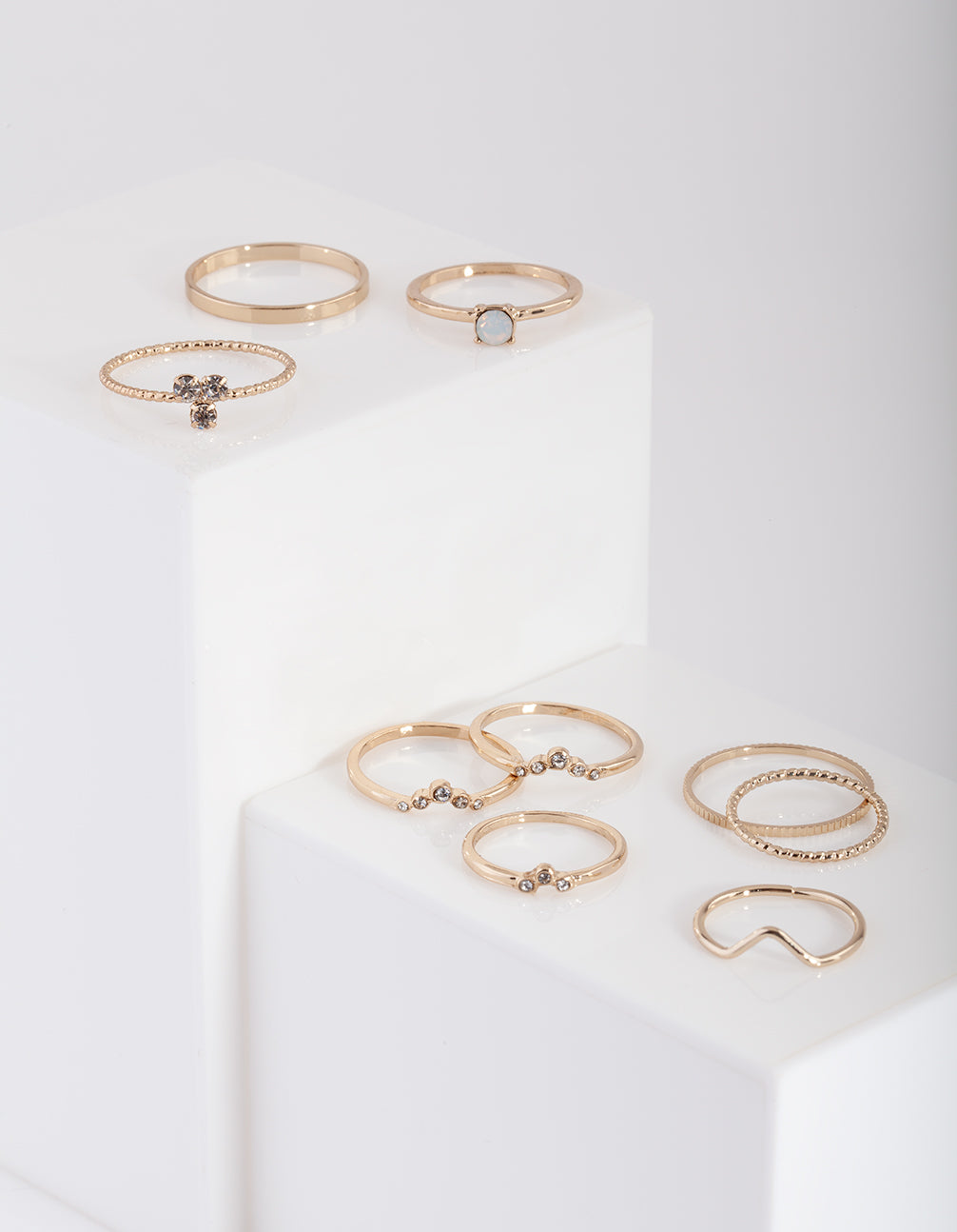 Gold Fine Moonstone Ring Pack