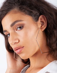 Rose Gold Geometric Oversized Hoop Earring
