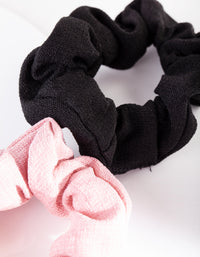 Classic Linen Scrunchie 3 Pack - link has visual effect only