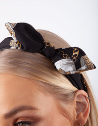Black Fabric Chain Headband - link has visual effect only