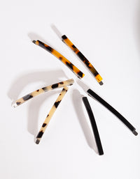 Tortoiseshell Black Clip 6 Pack - link has visual effect only